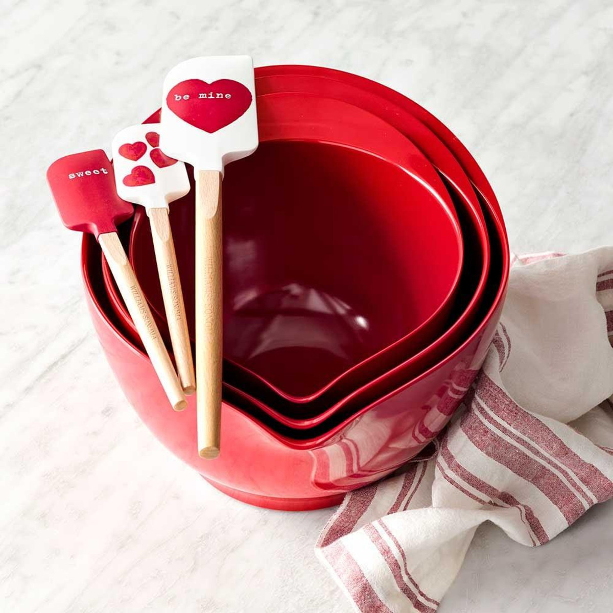 Valentine's Day Mini Silicone Spatulas by Williams-Sonoma ,$20.