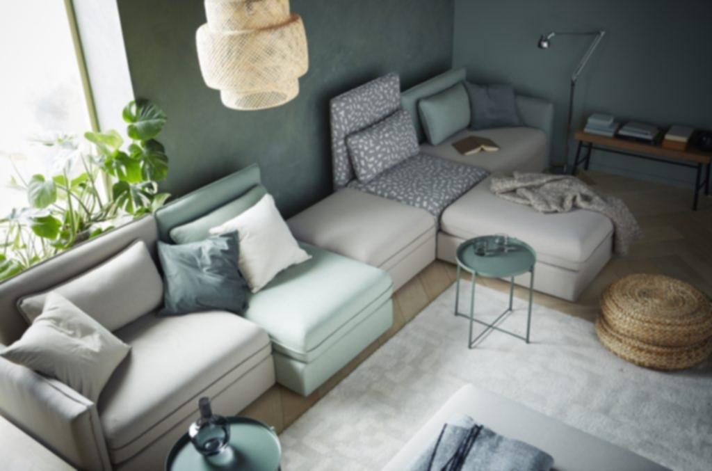 Moderne Wohnzimmereinrichtung Stein