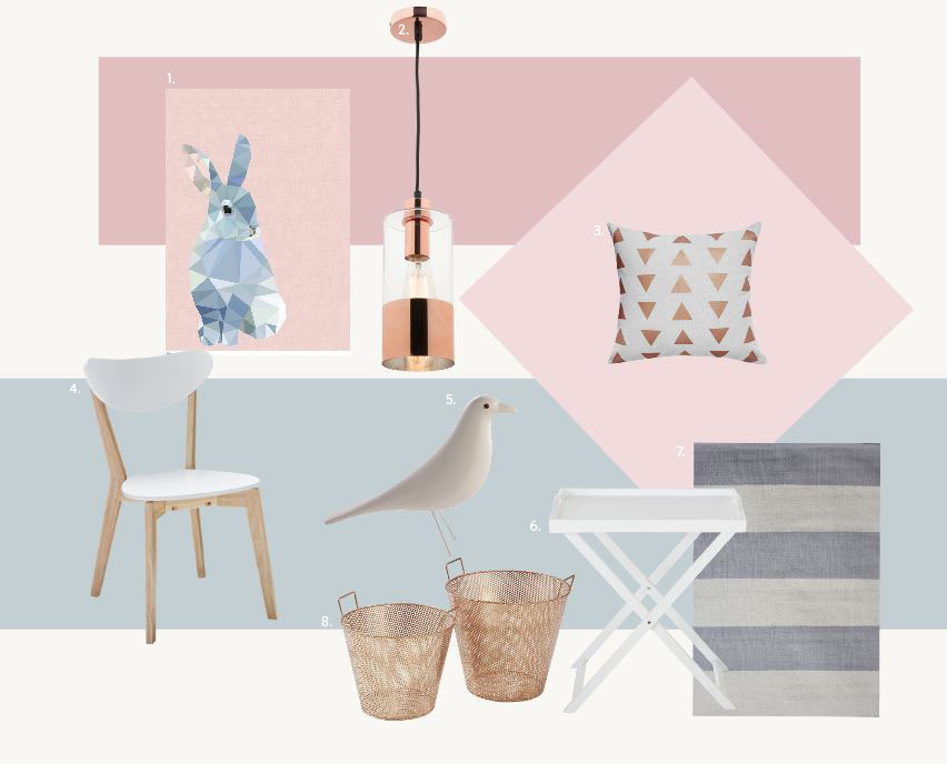 Design It Yourself, Style Board:1. Studio Cockatoo 2. DeLights 3. Fantastic Furniture 4. Fantastic Furniture 5. Spaces and Places 6. Fantastic Furniture 7. Focus on Furniture 8. House of Home