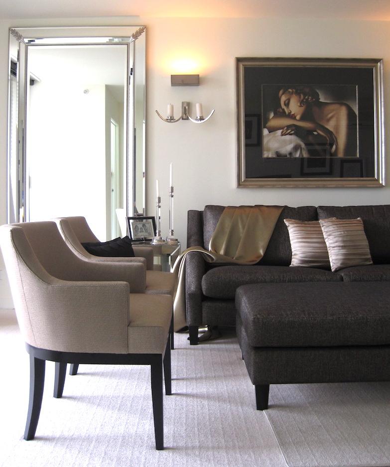 New carpet and a repaint transformed this tiny apartment. Image:Larissa Davis, Lewisham Interiors.