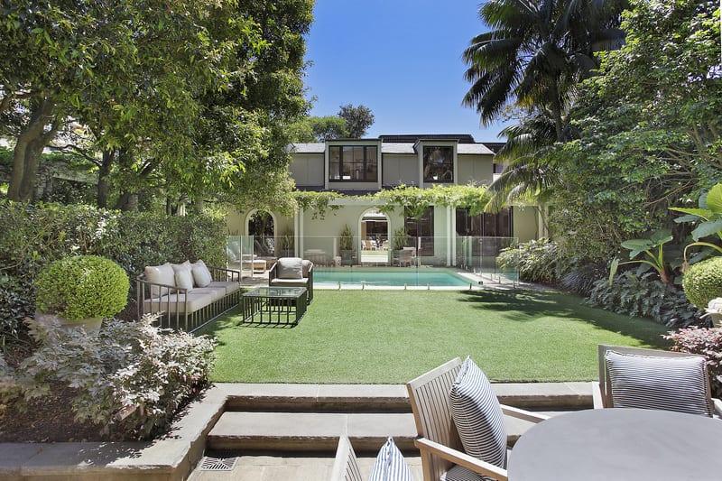 For sale: 24 Lang Road, Centennial Park, NSW - The crème de la crème of granny flats, this dual-level detached pool house contains a cinema room, bedroom, bathroom and kitchenette.