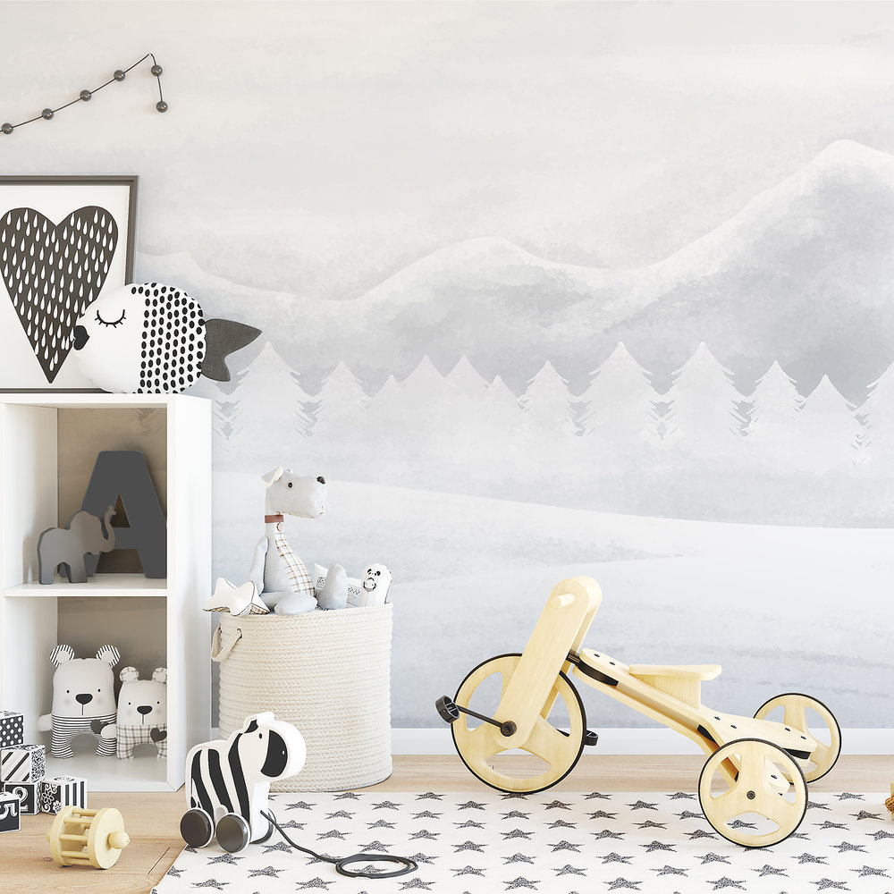 Ginger Monkey- Snowy Mountains Wallpaper
