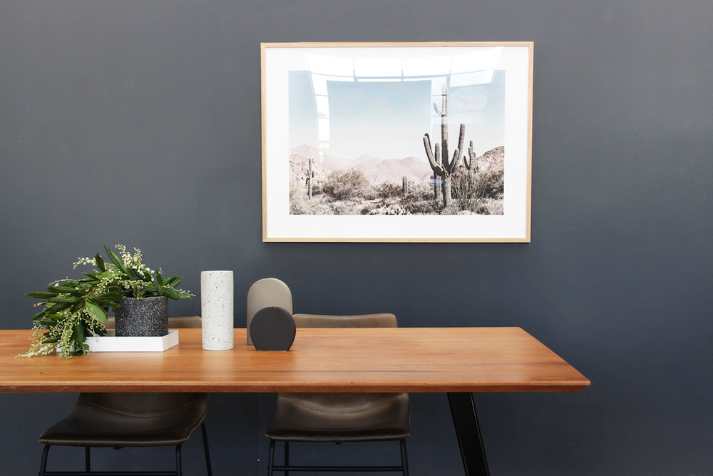 Get the look: Ambrose Solid Wood Dining Table, Saguarao Framed Print