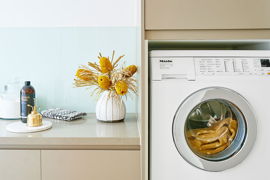 Image: e&s photoshoot.Photographer: Nikole Ramsay Styling: Michelle Hart, Bask Interiors Product: Miele W3831 WPS