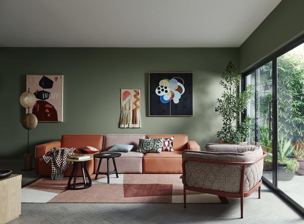 Image: Dulux Colour Trends 2018 – Kinship Palette. Styling: Bree Leech. Photographer: Lisa Cohen.