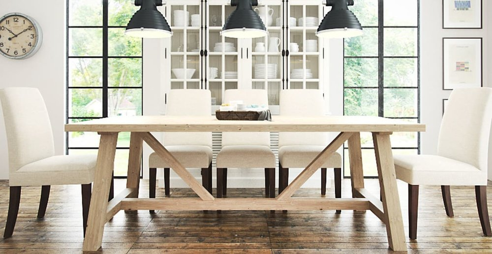 Image: Brosa, Chelsea Trestle Dining Table