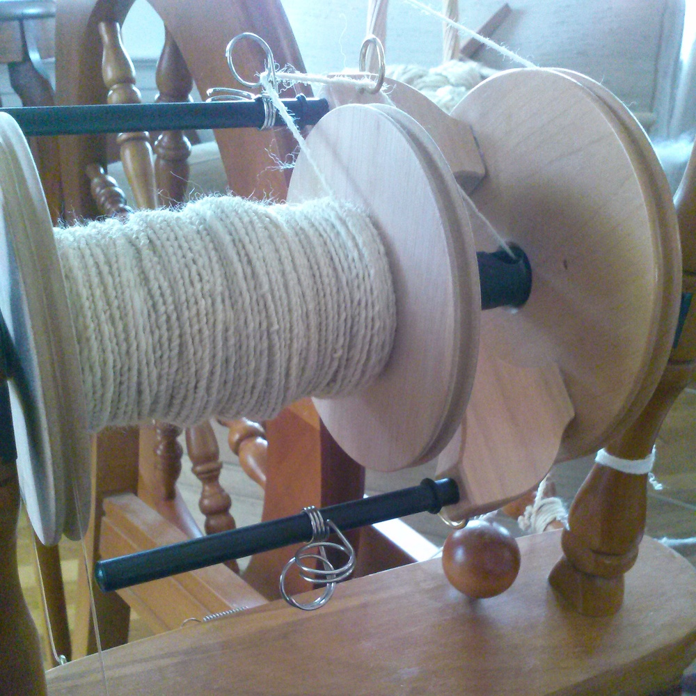 Plying on an Ashford Traditional with a Jumbo Flyer.