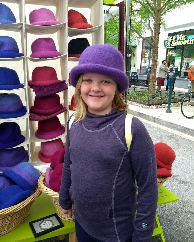 Lots of great new customers at A-RTS Rockville, but this one sure is the sweetest. Plus she looks great in purple!  Here till 5pm and looks like the rain is going to hold off.