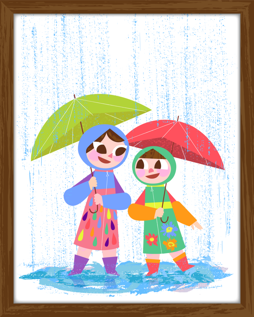 Commission: Playing in the Rain