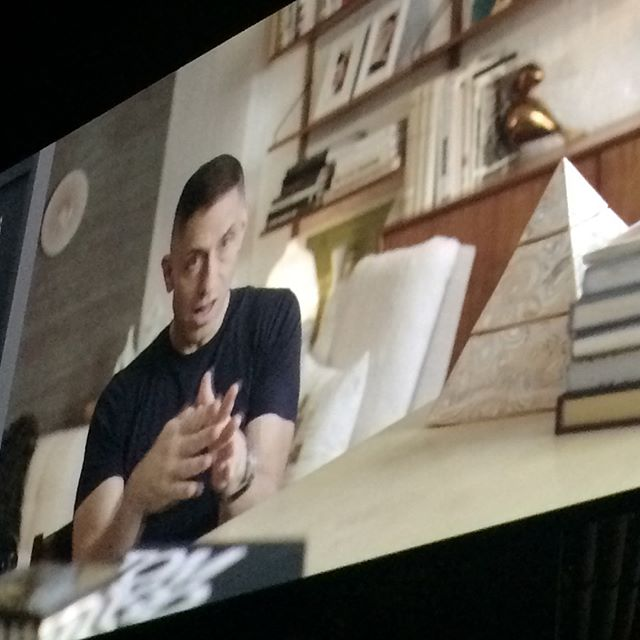Amazing to get to hear Jonathan Adler, Annie Griffiths, Mark Ronson, and Jason Favreau talk about their careers, being creative and what drives them! Sorry for the skewed images, we were off to the side. #adobemax2017 #inspiring