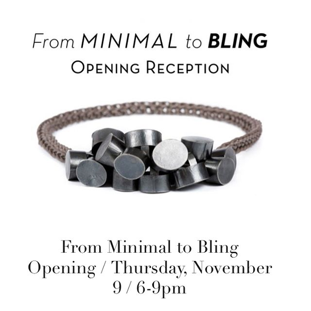 "Thrilled to announce that my work will be included in ""From Minimal to Bling"", at the @societyofcrafts . Swipe left to see some of the pieces that will be there!  November 11, 2017- February 3, 2018 Opening Reception: November 9th, 2017, 6-9pm  Long-time collectors and first-time visitors alike will be inspired by form, material, and technique. These bracelets, earrings, brooches, rings, and necklaces represent each artist's ability, talent, and vision. Purchases directly support emerging and established artists and allows us to educate the public about the transformative power of craft.  https://www.societyofcrafts.org/exhibitions/current-exhibition  #exhibition #metalsmith #societyofartsandcrafts"