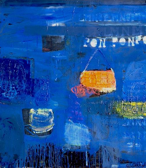 "Pon Pon  Oil on canvas  72"" x 64"""