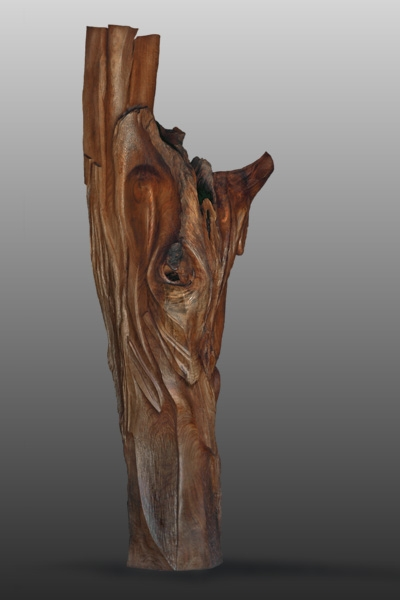 "Begetter of the Ancients  Walnut  82"" x 40"" x 32"""