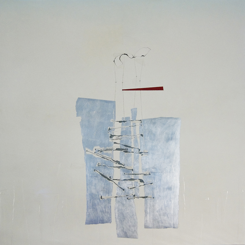 Hinged IX  mixed media on panel  60 x 60