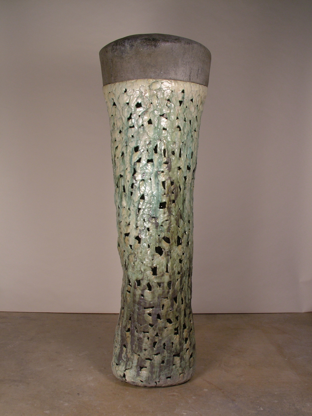 "Castle  Salt glazed stoneware  76"" x 25"" 23"""