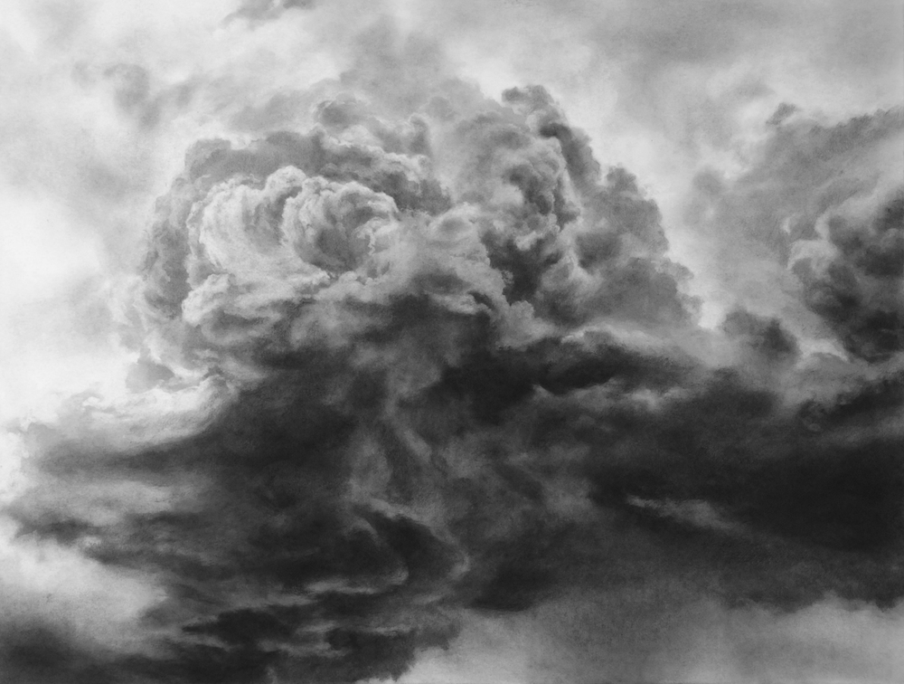 Echoes III  Charcoal on mounted paper