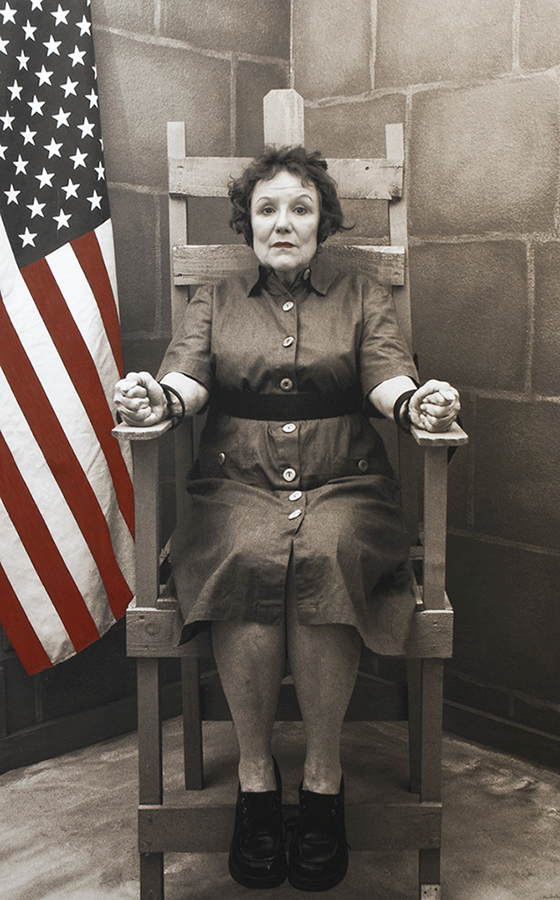 "Ethel Rosenberg--""Murdered"", from the ""Myselfportraits, Ode to Icons"" Series  Archival carbon pigment print  23.5"" x 35.5"""