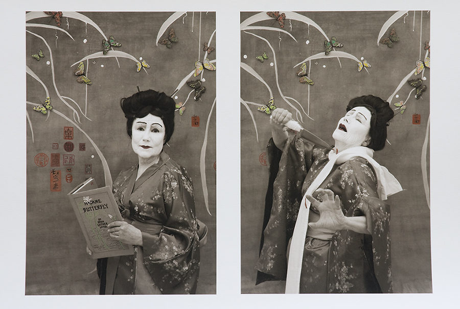 "Madame Butterfly--""J.L. Long Let Me Live but Puccini Murdered Me,"" from the Myselfportraits, Ode to Icons"" Series  Archival carbon pigment print  23.5"" x 35.5"""