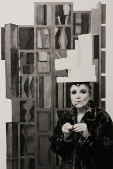 "Louise Nevelson--""Buy My Work, I Need the Money"" from the ""Myselfportraits, Ode to Icons"" Series  Archival carbon pigment print  35.5"" x 23.5"""
