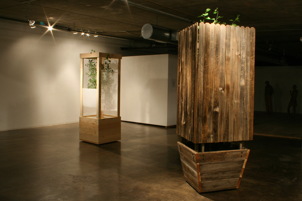 The Nature of Things (2009)  Reclaimed wood,aspen trees