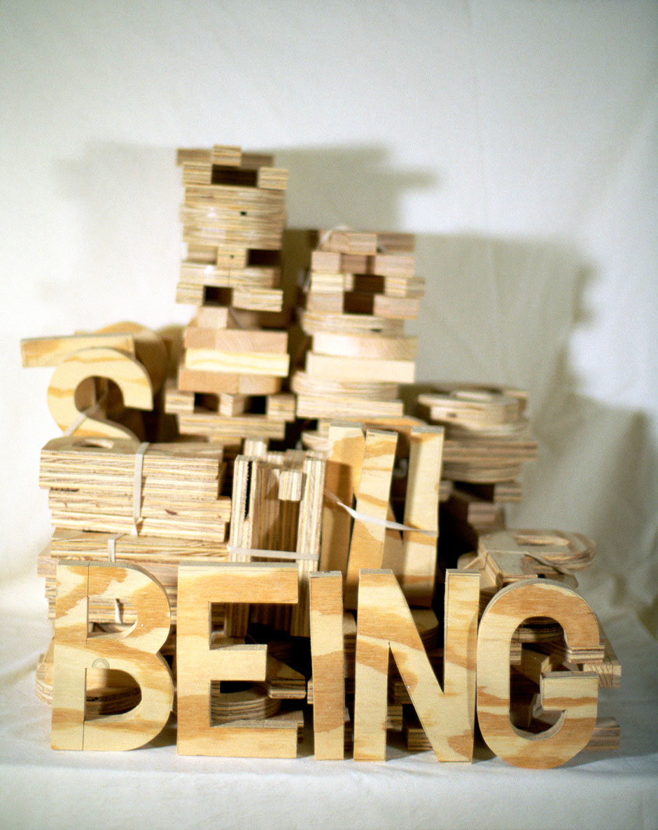 "Being,1999  36"" x 44""  Xerox tranfer on paper"