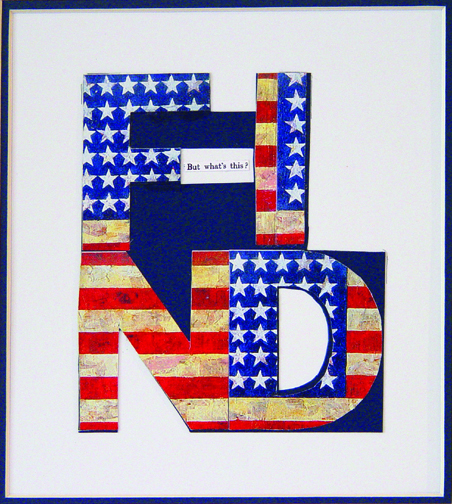 "FIND, 2008 (4 Letter Words Series)  15"" x 12""  Xerox transfer on paper"