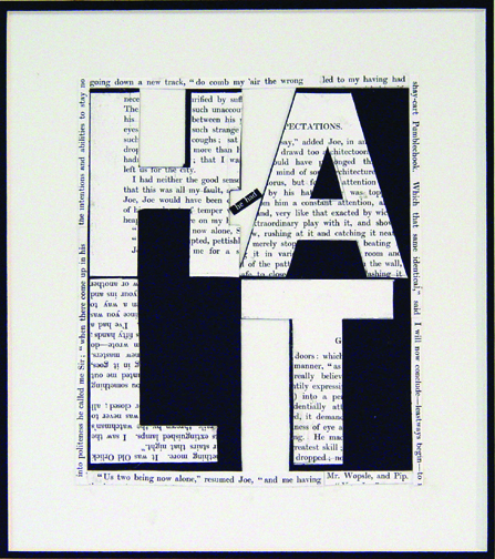 "Halt, 2008 (4 Letter Words Series)  15"" x 12""  Xerox transfer on paper"
