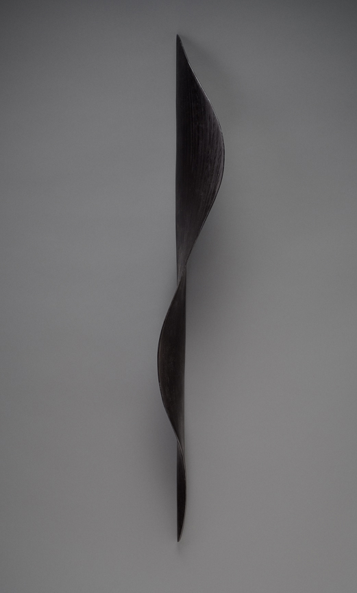 "BLACK TWIST    40""h x 5""w x 7""d    Laminated plywood, aniline dye"