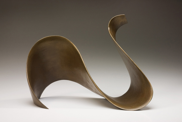 "BRONZE LOOP (table top)    11""h x 15""w x 8"" d    Cast bronze"