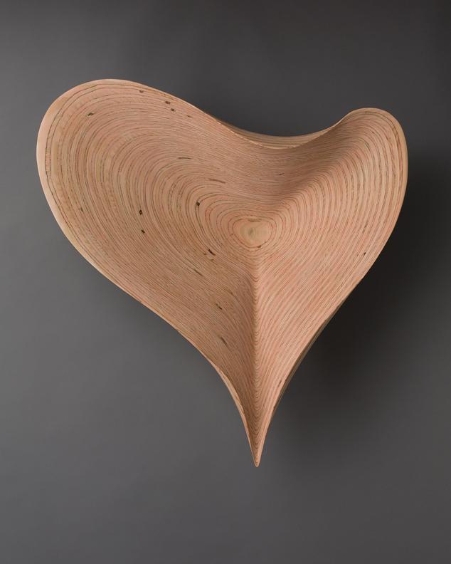 "STRATUS: CASTELLANUS     38"" h x 38"" w x 12"" d    Laminated plywood, aniline dye"