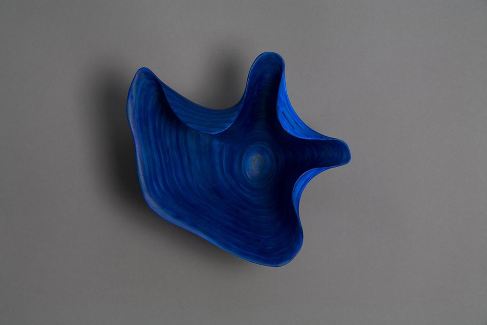 "STRATUS: DUSK    11"" h x 11"" w x 8"" d    Laminated plywood, acrylic paint"