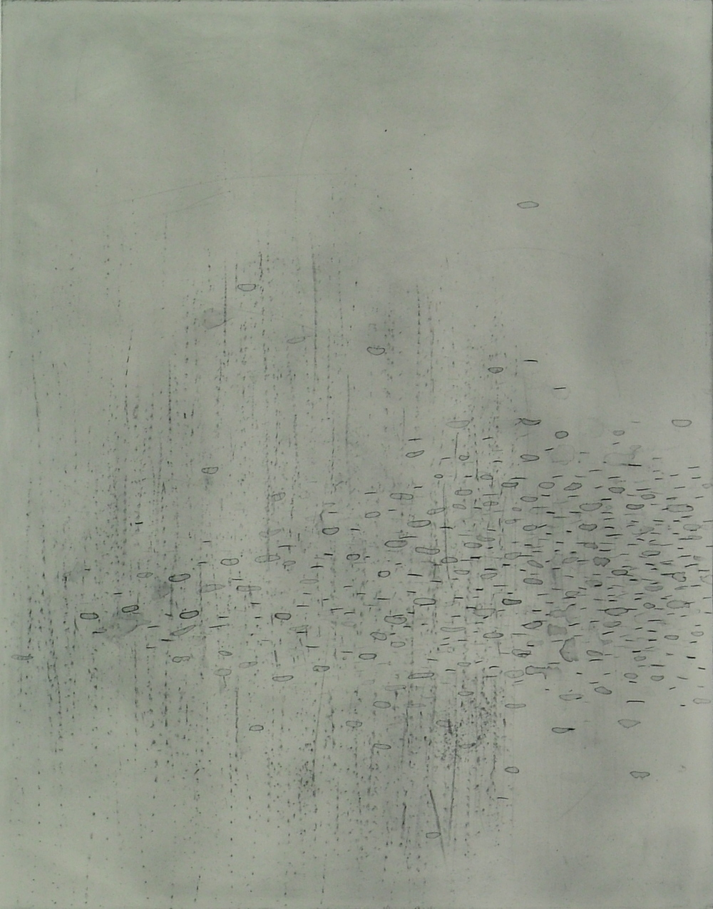 """Ice/Migration 3  Polymer Plate Etching  22"""" x 26"""""""