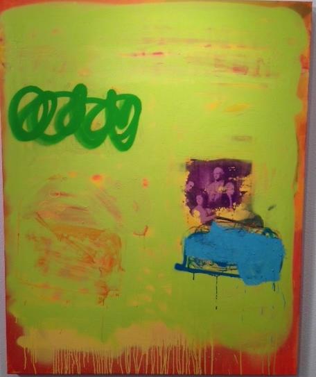 "Orange Fail  Oil on canvas  60"" x 48"""