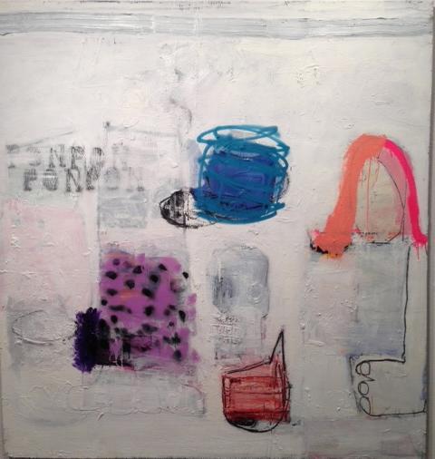 "Pon Pon 9  Oil on canvas  72"" x 68"""