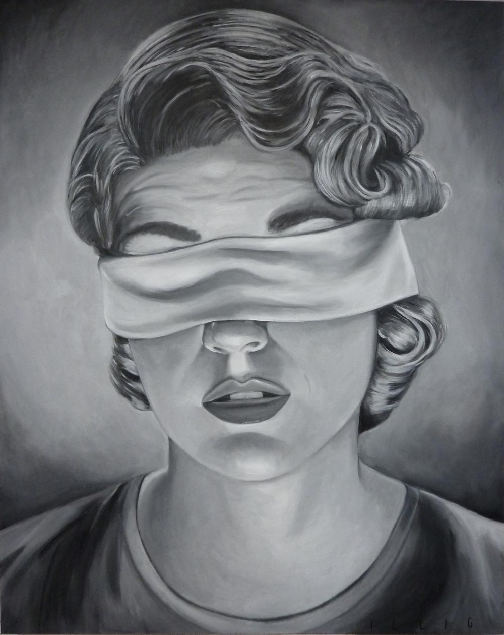 """Doubt  oil on canvas  48"""" x 60"""""""
