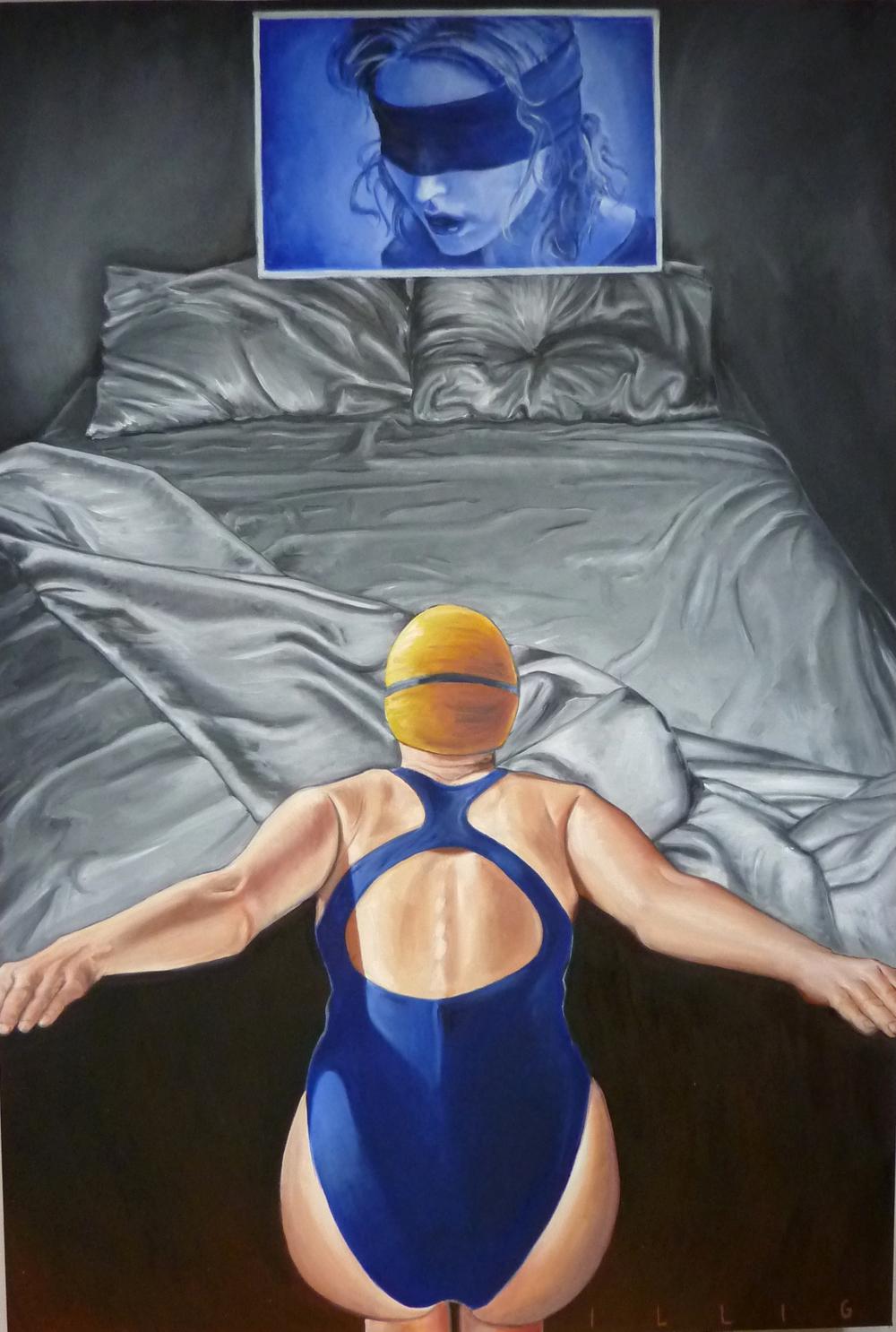 """Uncertain Destination  oil on canvas  42"""" x 62"""""""
