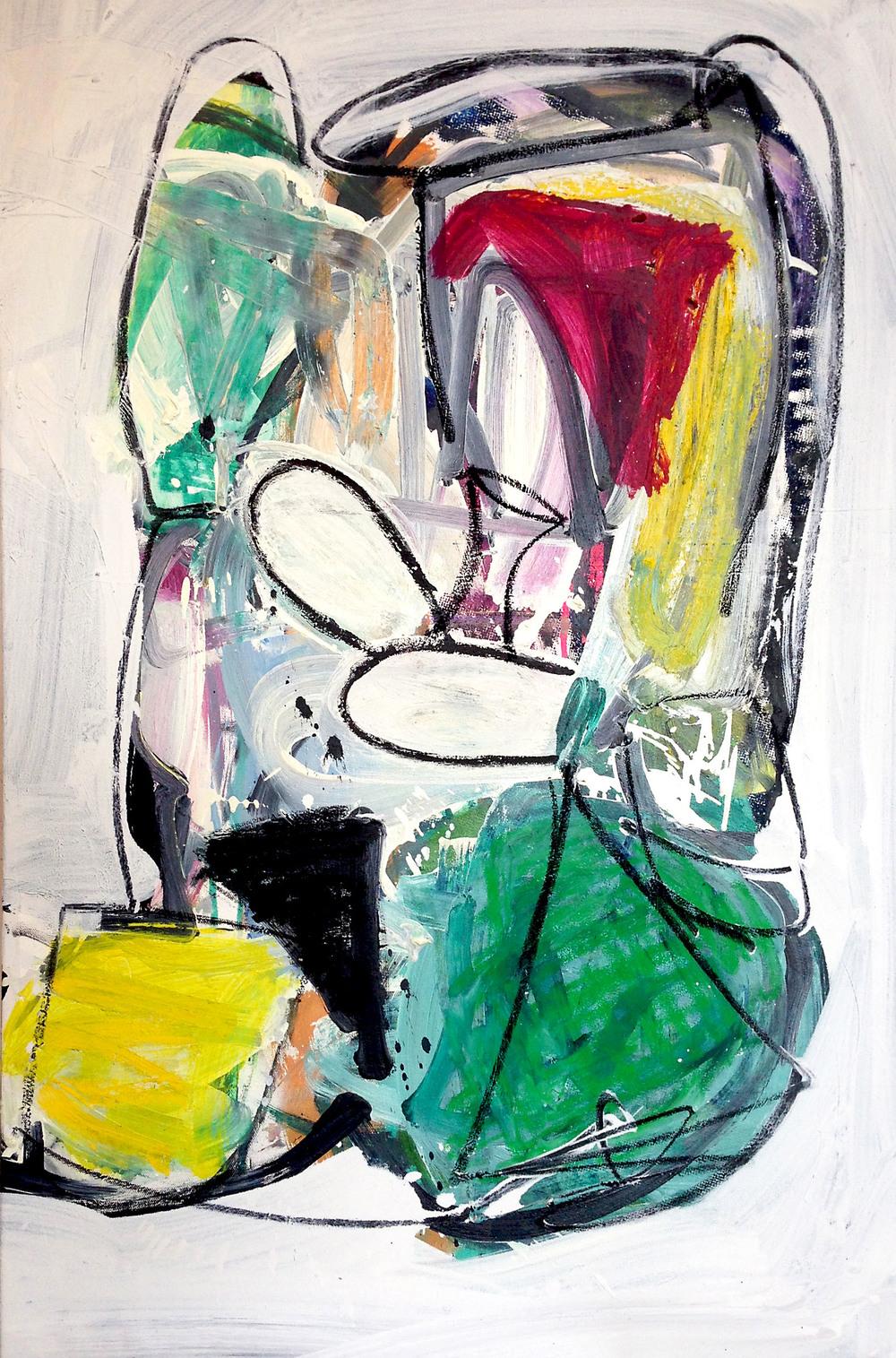 """pfff""  oil on canvas  36x24"