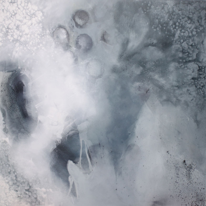 Outside of the In  48x48  ink, acrylic, powdered graphite on canvas