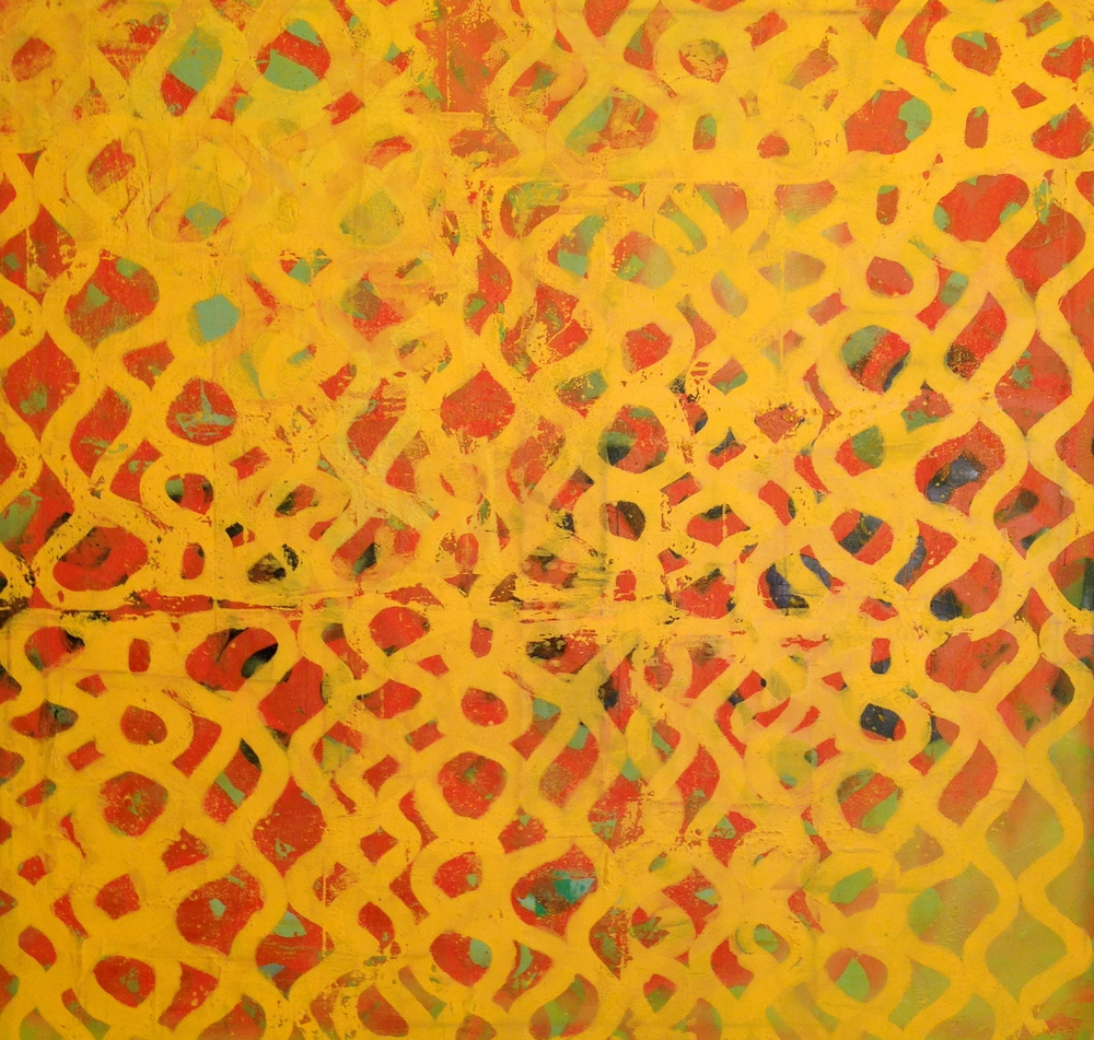 Eric Corrigan  Yellow  oil on canvas  48x48