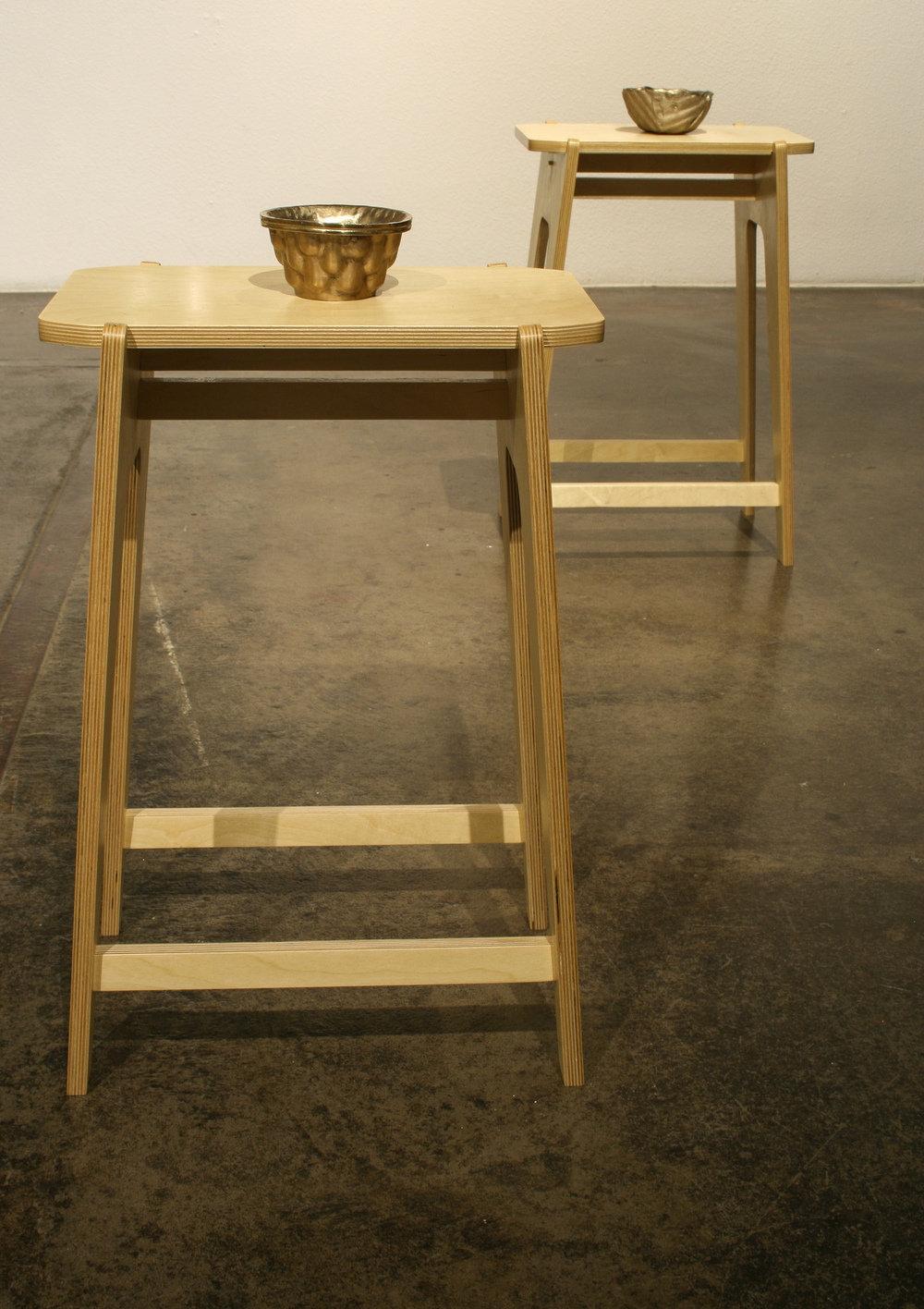"Sit, 5 stools  Baltic birch, plywood  26"" x 17"""