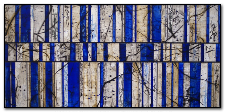 "Azure 1  Mixed media  12"" x 48"""