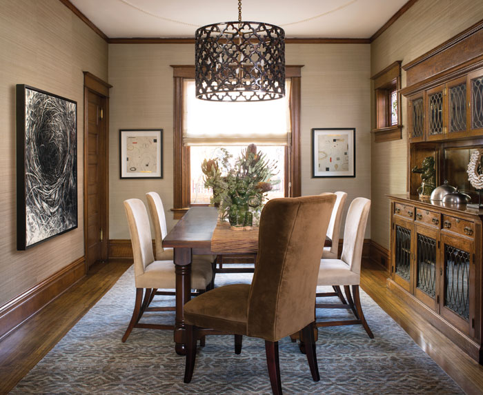 Private Residence. Colorado Homes Magazine. Armijo Design Group. Kimberly Gavin Photography.  Artists: Robin Cole Smith, Don Quade.