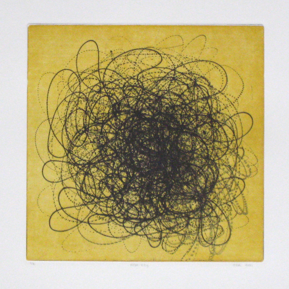MSM-22y (yellow)  Intaglio: etching, drypoint and aquatint  12 x 12 in.