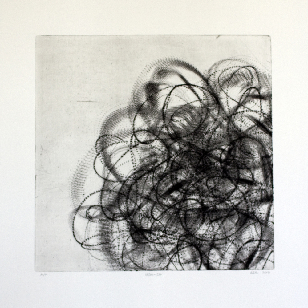 MSM-24 (b&w)  Intaglio: etching and drypoint  12 x 12 in.