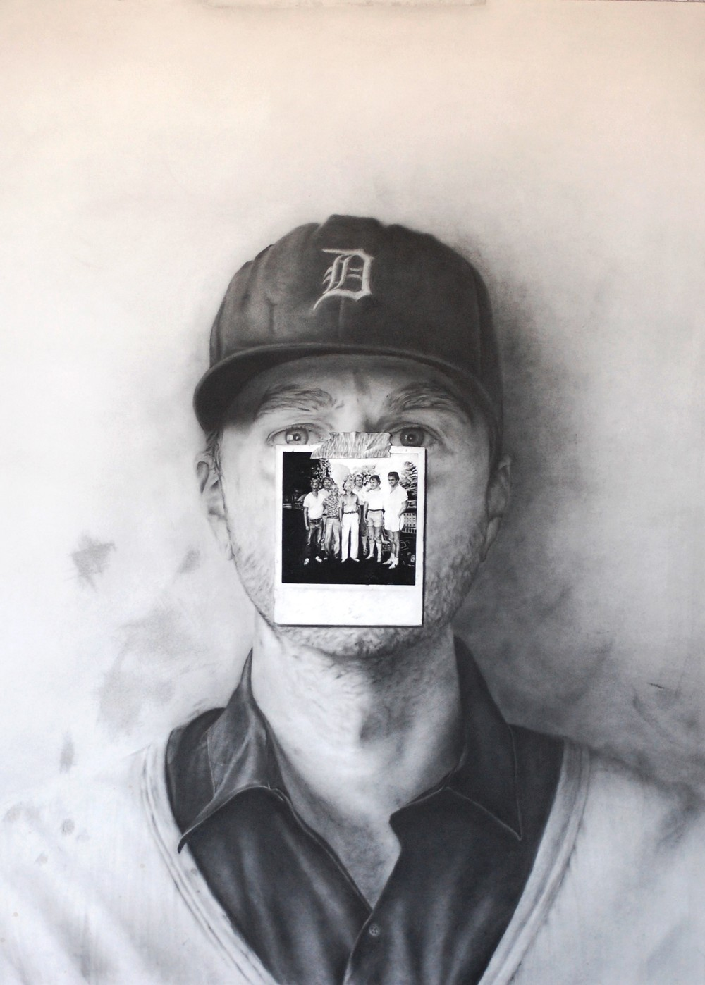 "Son of Main  graphite powder, pencil and conte on paper  29"" x 37"""