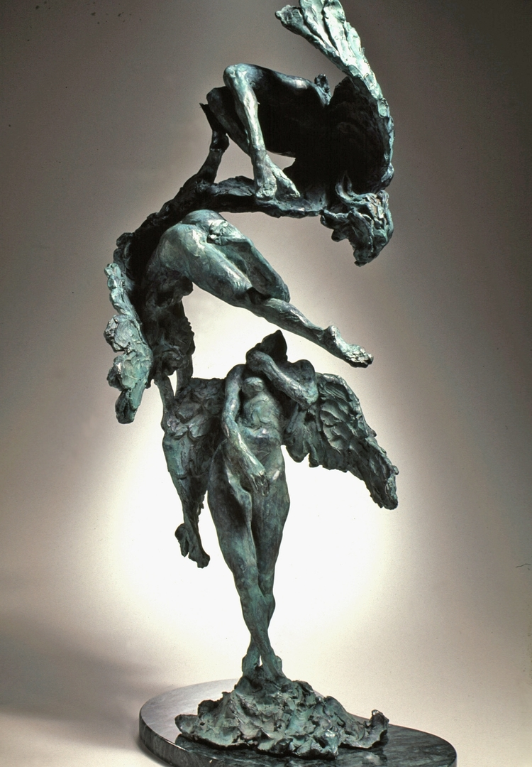 "Angels Play  bronze  24"" x 11"" x 9"""