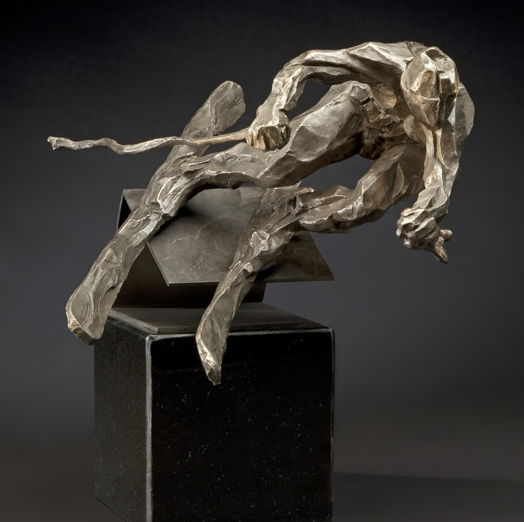 "The Edge 2  bronze  14"" x 9"" x 9"""