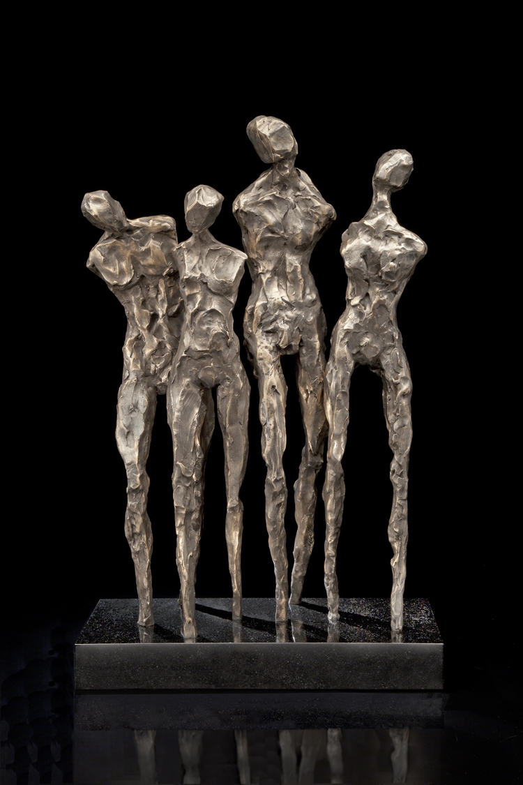 "Friends  bronze  28"" x 8"" x 18"""