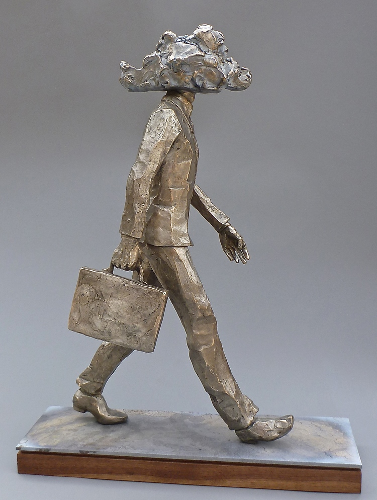 "Head in the Clouds  bronze  26"" x 9"" x 20"""