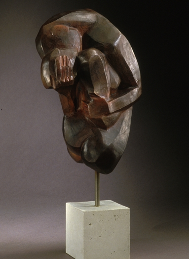 "The Kiss  bronze  26"" x 9"" x 11"""